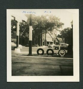 1955 Chevy Cars & Atlas Tires Standard Oil Gas Signs Mobile Alabama Photo 471132