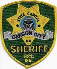 US Capital City HAUPTSTADT  NEVADA  Carson City  Polizei Abzeichen Police Patch