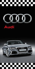AUDI AUTO DEALER VERTICAL AVENUE POLE BANNER SIGNS