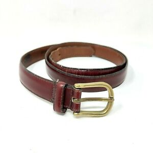 Dooney & Bourke Thin Belt Brown Brass Buckle Casual Professional Mens Size 38
