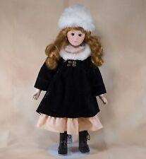 "Porcelain Collector's Girl Doll 16"" Red Hair Brown Eyes Crh International"