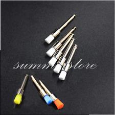 100 Pcs Dental Prophy Nylon Latch Flat Polishing Brushes Colorful/White Optional