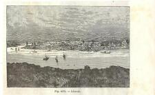 Stampa antica IRKUTSK panorama Siberia Russia 1889 Antique print античный печать