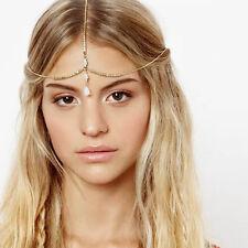 Bohemian Beads Head Chain Headband Headpiece Opal Pendant Hairband Jewelry New
