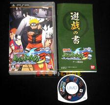 NARUTO SHIPPUDEN ULTIMATE NINJA HEROES 3 Psp Versione Giapponese •••• COMPLETO