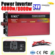 Power Inverter 4000W / 8000W Surge Power Car Caravan 24V-240V USB Output -24V