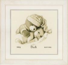 Vervaco kit de punto de cruz - Acta De Nacimiento Bebé & Teddy - Bordados KITS