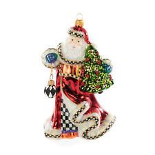 MacKenzie-Childs Glass Ornament - 'Tis the Season Santa