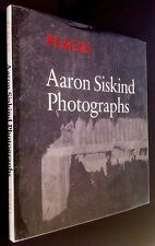 FLAT SIGNED by AARON SISKIND PHOTOGRAPHS: PLACES; Limited Ed. HC w Dust Jacket