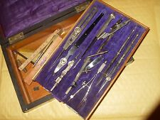 Vintage Drawing / Draughtsman Set Including Proportional Dividers - As Photo