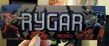 Rygar arcade marquee sticker. 3.5 x 9.5. (Buy any 3 stickers, Get One Free!)