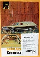 Vintage Magazine Print Ad 1967 Chevrolet  Chevelle Concours Custom Wagon