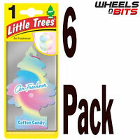 6 x Cotton Candy Scent Magic Tree Little Trees Car Home Air Freshener Freshner