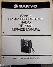 SANYO Vintage Original AM-FM-PS Portable Radio RP 7300 Service Manual