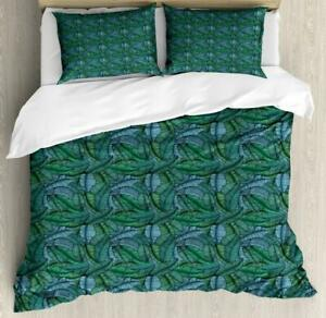 Banana Leaf Duvet Cover Set Twin Queen King Sizes with Pillow Shams Bedding