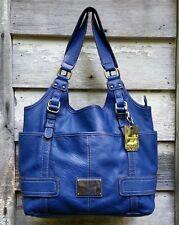 TYLER RODAN Royal Blue VEGAN Pebbled Leather HOBO Shoulder BUCKET Bag L (Offer)