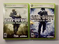Call Of Duty World At War And Call Of Duty 4 Modern Warfare Lot Of 2