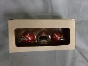 University of Alabama Helmet Christmas Ornaments Set Of 3 NEW 2nd Limited Series