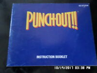 Punchout!! (NES Nintendo) Instruction Manual Only.. NO GAME