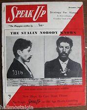 December 1950 Speak Up magazine - Stalin, Genocide, Segregation, Nevada Smith