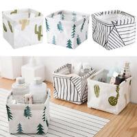 3PCS Foldable Storage Bin Closet Toy Box Container Organizer Linen Fabric Basket