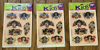 3 Packages Hallmark Stickers 1992 Coca-Cola New Old Stock Throwback Images NOS