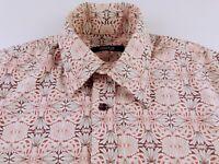 KL384 MOTO / TOP MAN 70's hippie design shirt size M, as unworn!