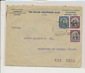 LM85062 Chile 1924 to USA cover with nice cancels used