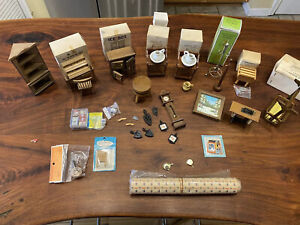 Doll House Miniatures And Furniture Lot