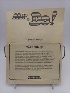 1980s Mr. Do! Universal  Video Arcade Game Operation Manual Schematics USA