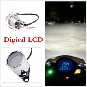 Universal For Scooter Motorcycle Speedometer Retro LCD Digital Display Odometer