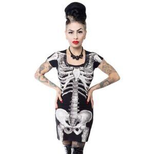 kreepsville 666 Skeleton Mini Dress Tshirt Goth Size Large Rockabilly Punk