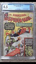 Amazing SpiderMan #14 CGC 4.5 Graded 1964 1st Green Goblin Silver Age Cents Copy