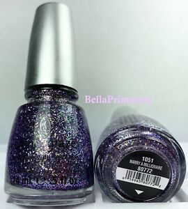 China Glaze Nail Polish Marry A Millionaire 1051 Eye Candy Purple Multi Glitter
