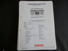 Original Service Manual  Nordmende STARCORDER 2484
