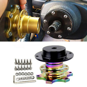 Steering Wheel Quick Release Hub Removable Snap Off Boss W/screws Kit Universal