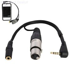 LyxPro XLR Female To TRRS, Connects Professional XLR Microphones To iOS, iPhone