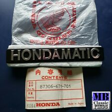 76 77 78 79 80 81 Honda Accord Hondamatic emblem Genunine NOS 87306-671-701