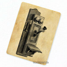 Wall Phone Deco Magnet, Decorative Fridge Antique Machine Illustration Décor