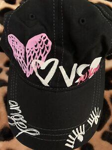 Victorias Secret VS PINK Black Hat Graffiti One Size NEW