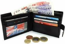 Designer Mens Leather Card Blocking ID Protection Wallet RFID SAFE Contactless