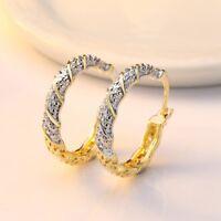 18k Gold Filled White Topaz Women Jewelry Dangle Anniversary Drop Earrings Gift