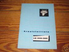 Teilekatalog Welger Miststreuer LS 250 - 300 von 1975