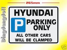 Hyundai Parking Sign Novelty Gift Santa Fe Coupe