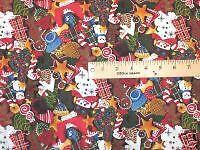 Sugar Cookie Cutout Christmas Fabric - By The Half Yard