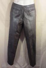 Margaret Godfrey Women's Brown Leather Pants Sz-6 Regular -SHIPS FREE