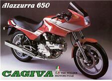 1986 Cagiva Alazzurra 650 large sales brochure