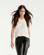 Danier Black Italien Leather Front Leggings Lycra back Size 4