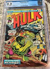 Incredible Hulk 180 CGC 9.2 1ST APP WOLVERINE 1974 KEY GRAIL Comic Book