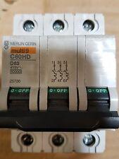 Interruptor de circuito. Merlin GERIN Múltiples 9 c60hd d63 415 voltios.